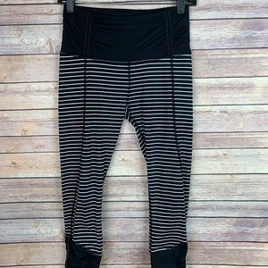 Lululemon Runday Crop Parallel Stripe Legging